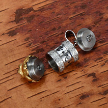 Titanium Buddhism Jewelry Surangama Mantra Rotatable Pendant Sanskrit Amulet Necklace Prayer Wheel