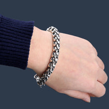 Sterling Silver Bracelet 5-7MM Thickness Dragon Scale Bracelets for Men Women