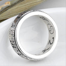 Silver Tai Chi Bagua Rings for Women Men Jewelry