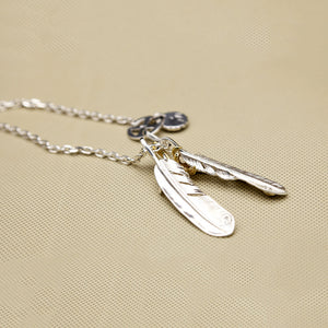 New Sterling Silver Necklace Eagle Claw Feather Chain Unisex