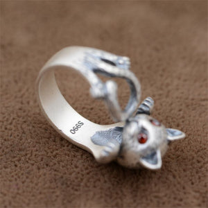 Sterling Silver Cat Ring Original Cute Animal Jewelry