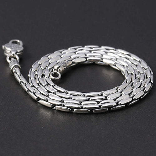 75cm Pure 925 Sterling Silver Necklace 3MM Thick Chain Men's Gift