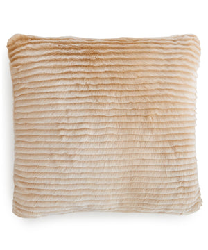 Charter Club Eyelash Stripe Fauxfur Decorative Pillow 20x20 Tan