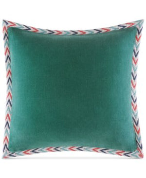 Martha Stewart Collection Bohemian Rhapsody Reversible Blue 18x18 Pillow