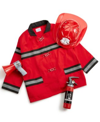 Firefighter Uniform Set  Ages 3–6 Red