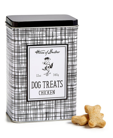 Harry Barker Chicken Dog Treats Black/White Tin Black
