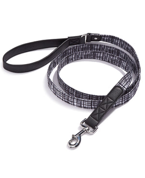 House Of Barker Black/white Leash 6 Ft Black