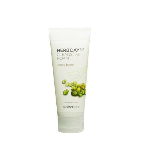 the-face-shop-herb-day-365-cleansing-foam-mung-bear