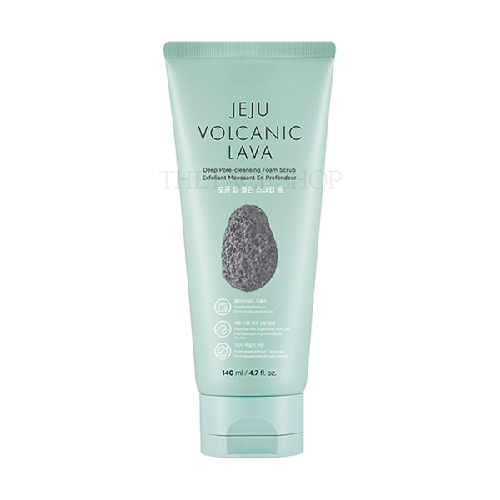 The Face Shop Jeju Volcanic Lava Pore Deep Clean Scrub Foam