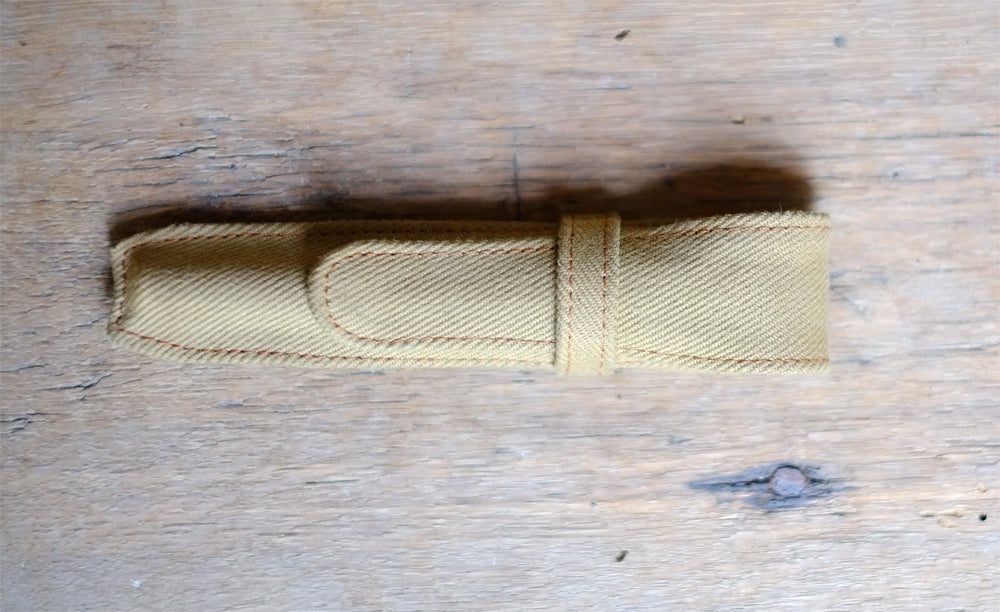 Vintage Tent Canvas Pen Pouch
