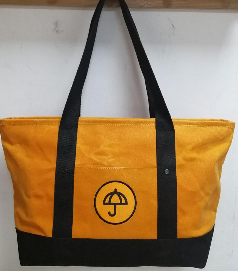 Yellow Object Waxed Canvas Bag