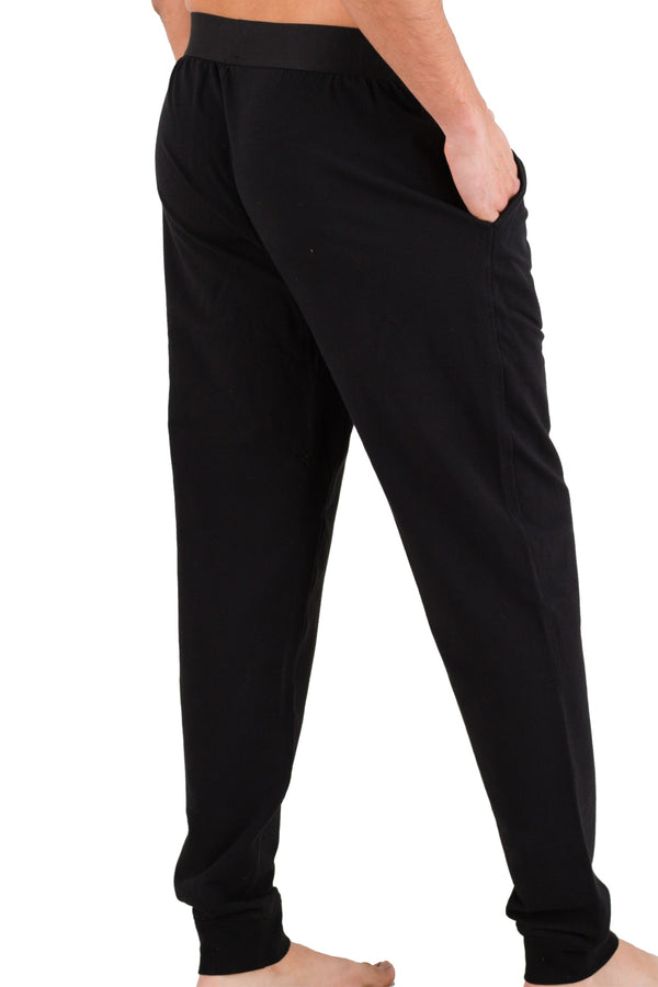 Black Pima Cotton Lounge Pants
