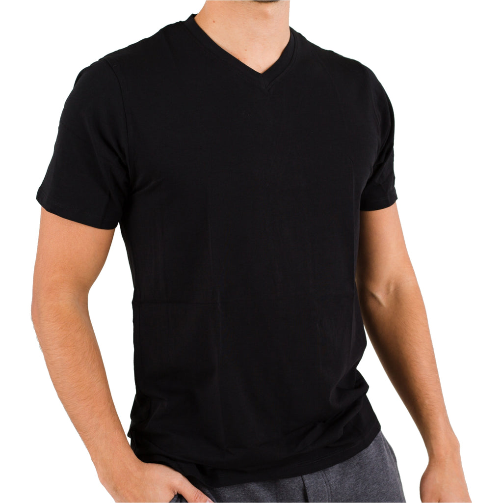 Black Pima Cotton V-Neck Under Tee