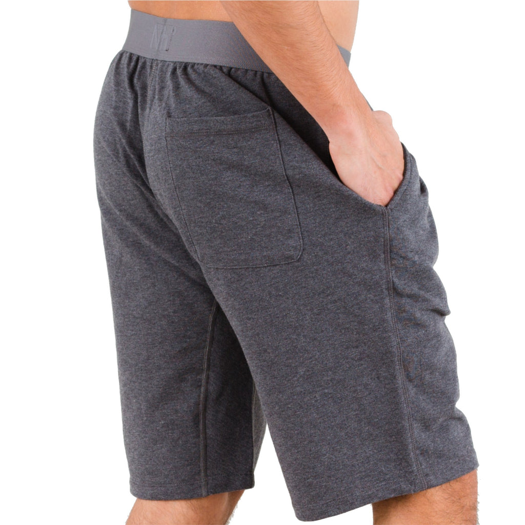 Dark Heather Pima Cotton Terry Lounge Shorts