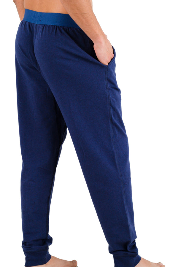 Heather Navy Pima Cotton Lounge Pants