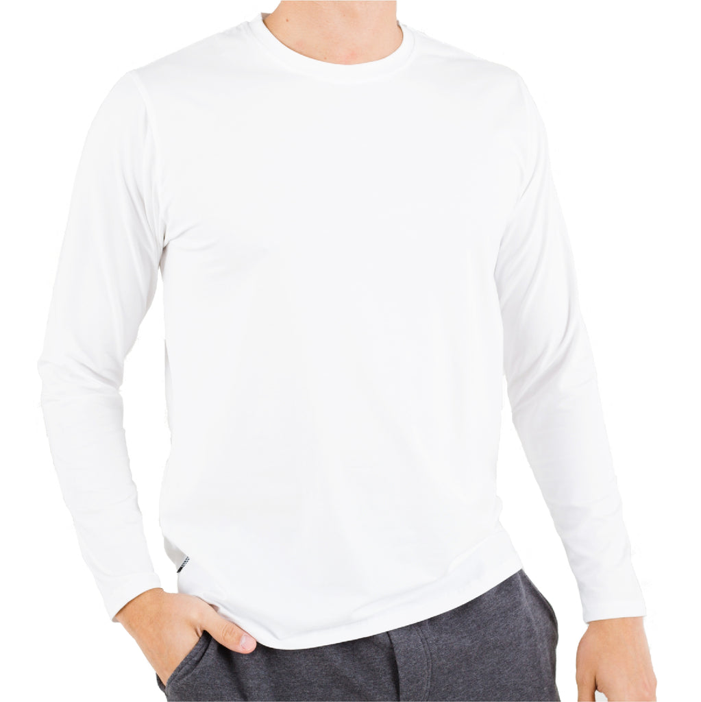 White Pima Cotton Long sleeve Crew Under Tee
