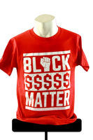 Black Dollars Matter Short Sleeve Unisex Crew Neck Tee Red