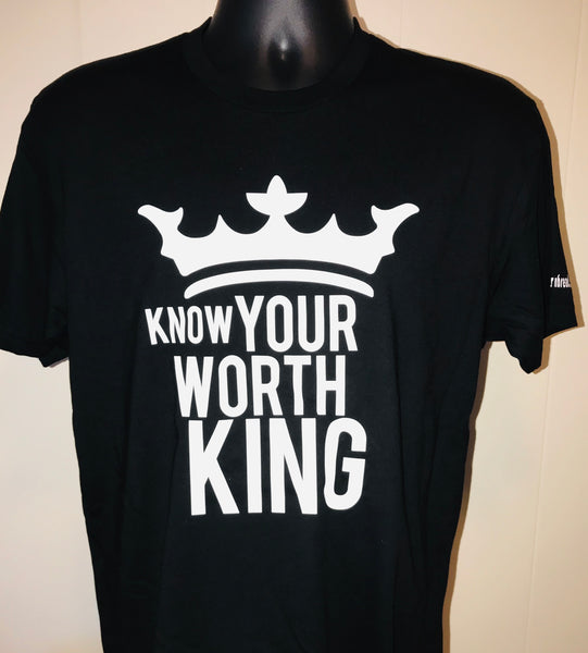 Know Your Worth King Unisex Crown Black Awesome Tee