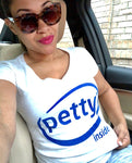 Petty Inside Short Sleeve Women's V-Neck Tee White