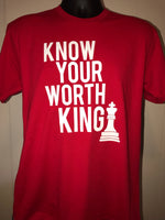 Know Your Worth King Unisex Chess Red