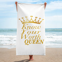 Know Your Worth Queen Towel