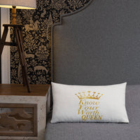 Know Your Worth Queen Premium Pillow