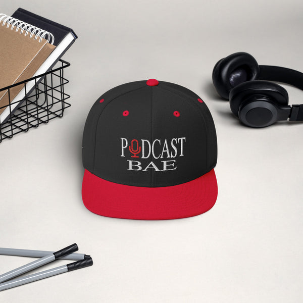 Podcast Bae Snapback Hat