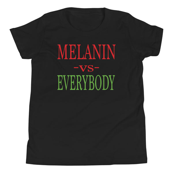 Youth Unisex Melanin vs Everybody Short Sleeve T-Shirt