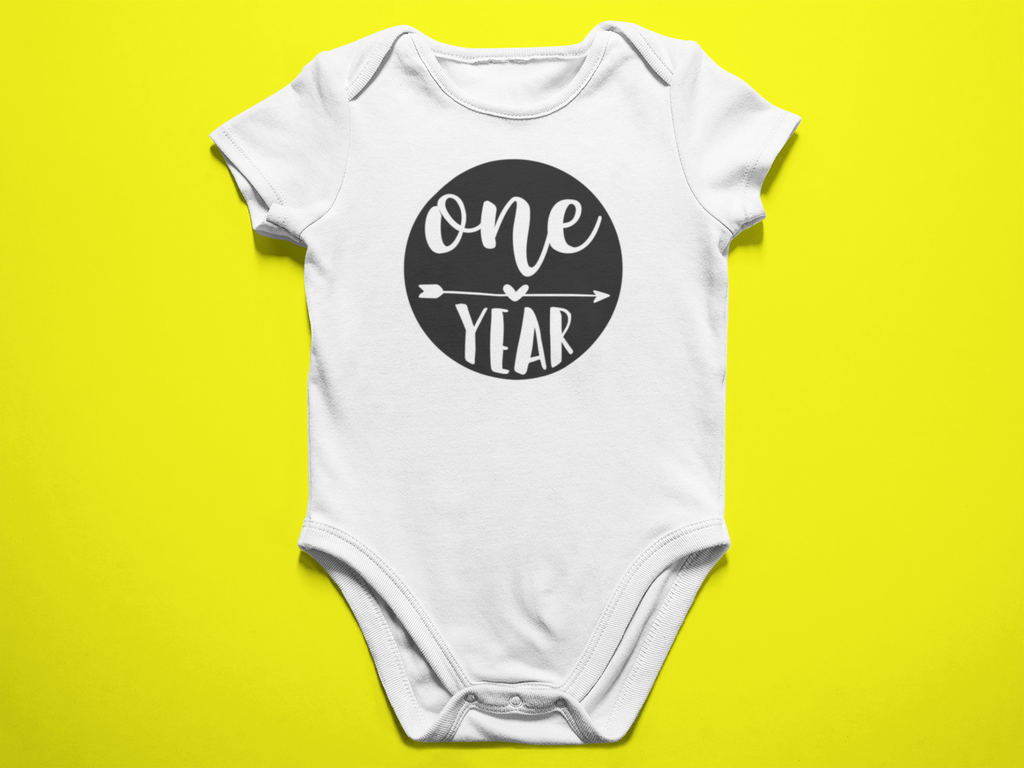 1 Year Old Milestones Onesie - Bella Rose Closet