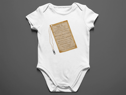 Baby Tag Onesie By Rooted Heart Dezigns 0-3 Months - Bella Rose Closet