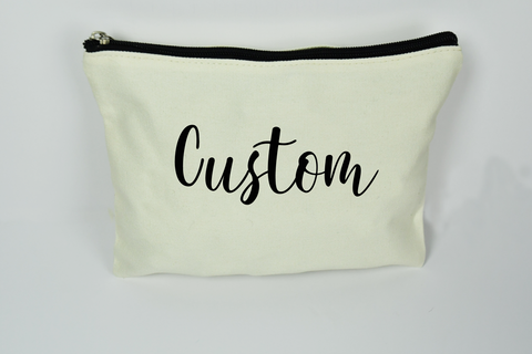 Makeup Bag Custom Script - Bella Rose Closet