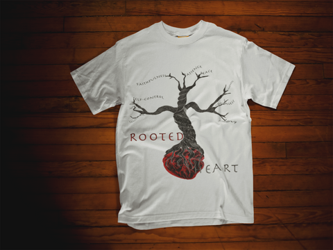 Rooted Heart Dezigns Mens Cotton Tee - Bella Rose Closet