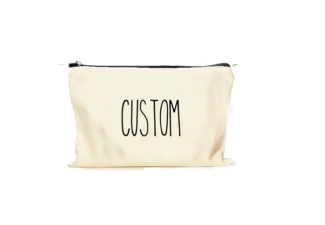"Makeup bag ""CUSTOM TEXT"" custom - Bella Rose Closet"