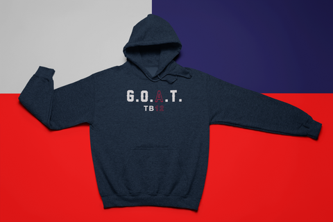 G.O.A.T 12 Adult 8 oz. NuBlend® Fleece Pullover Hoodie - Bella Rose Closet