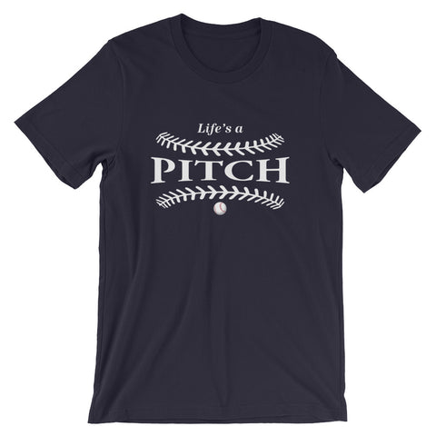 Life's a pitch Short-Sleeve Unisex T-Shirt - Bella Rose Closet