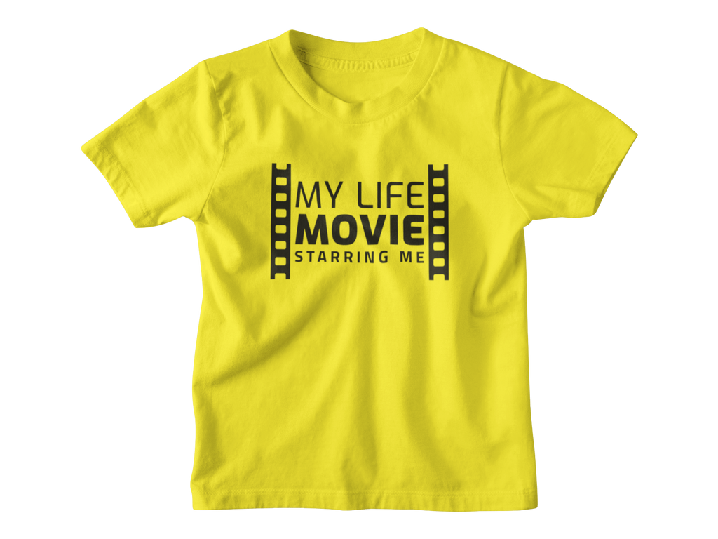 My Life Movie Toddler T-shirt Yellow - Bella Rose Closet