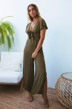 Tara Jumpsuit in Khaki