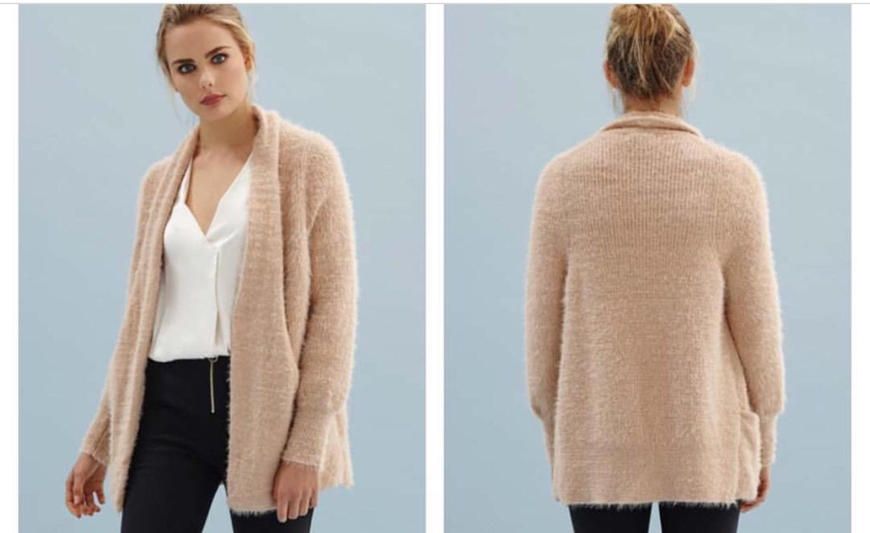 Lucinda Wool Blend Blush Cardigan