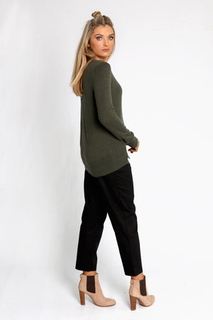 Saskia Knit in Khaki