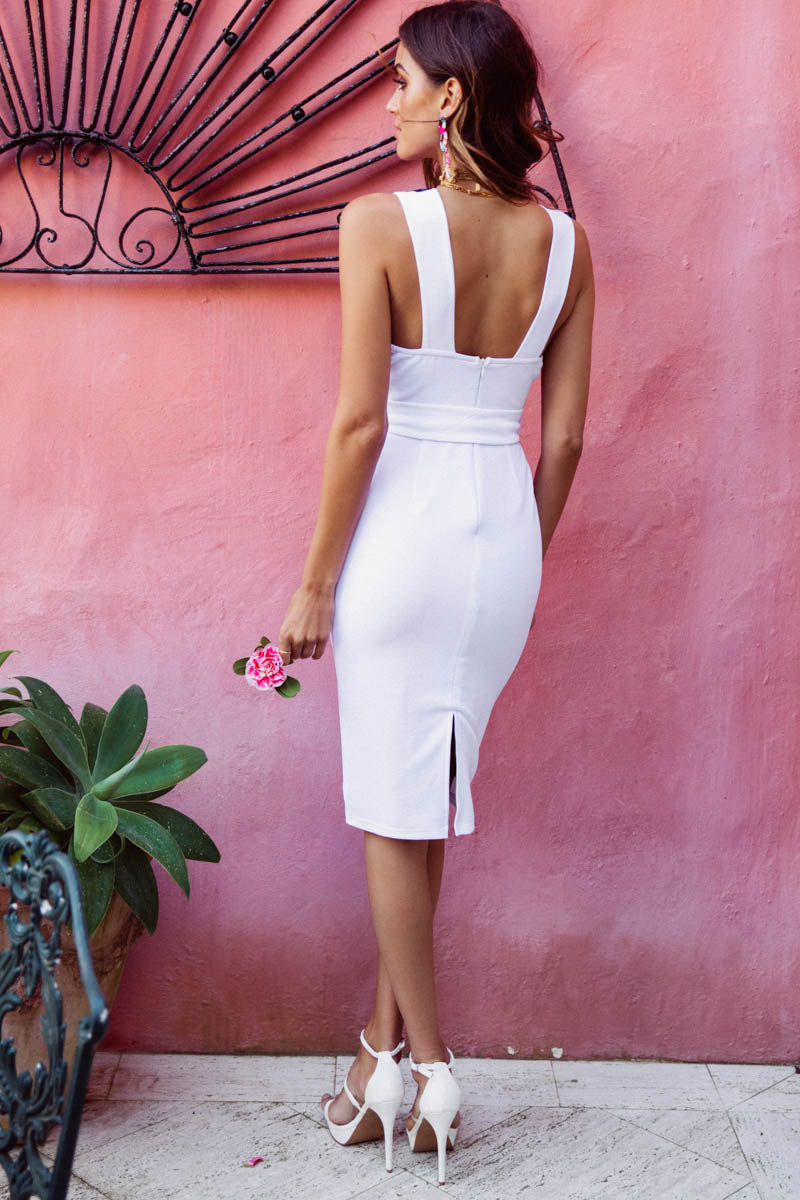 TASHA DRESS IN WHITE