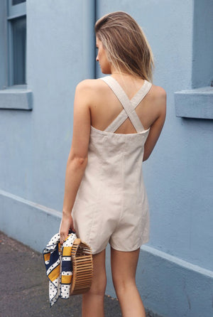 Bindy Romper / Beige