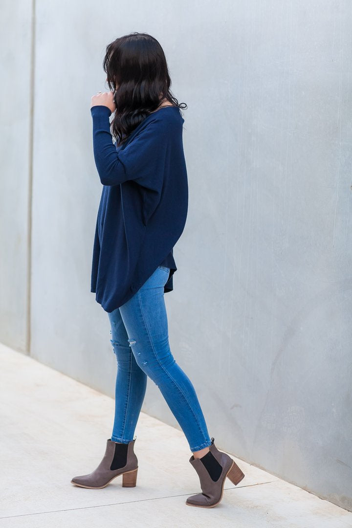 EMMA KNIT - NAVY