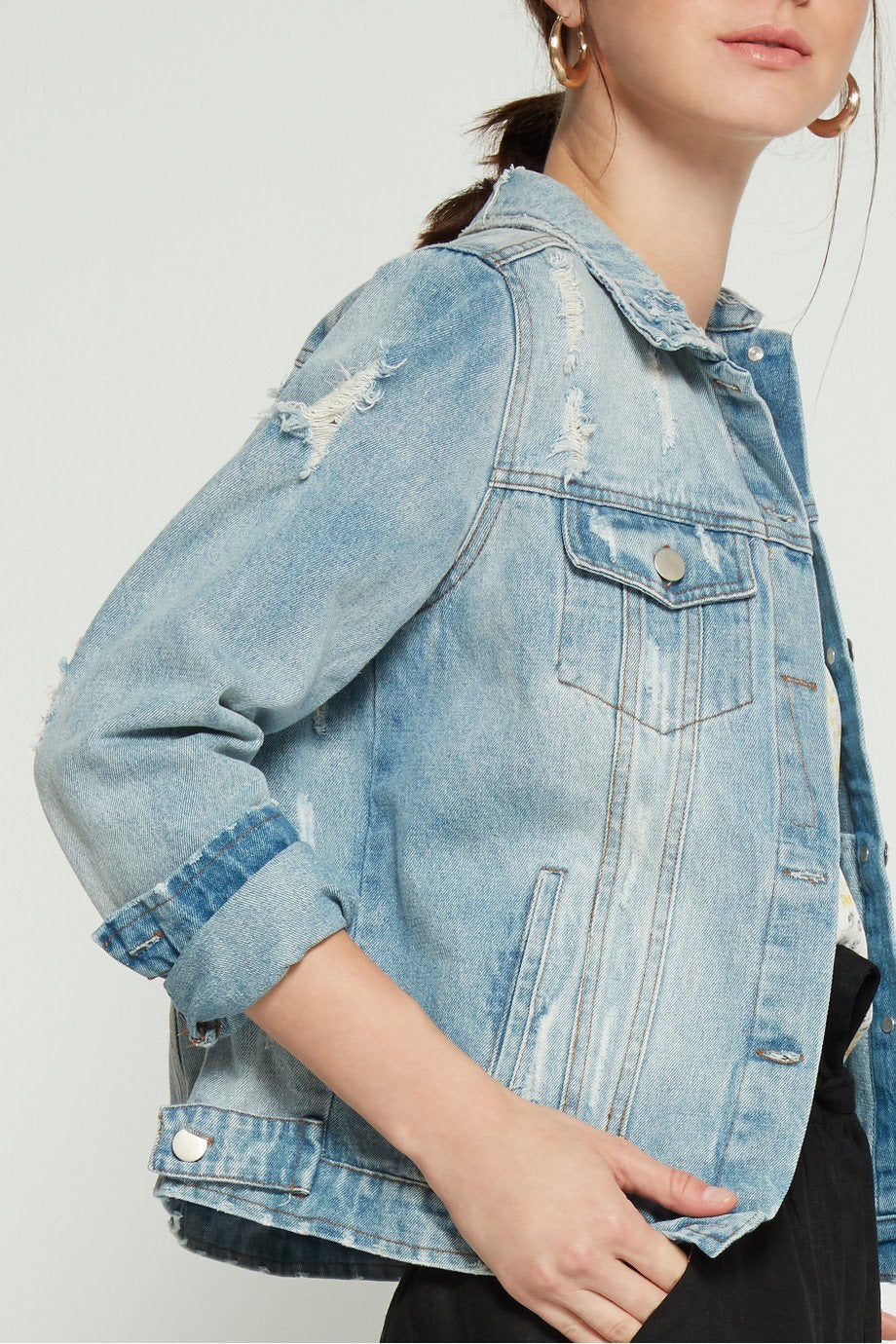 Girl Overboard Denim Jacket