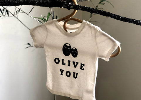 Olive you Organic toddler tee shirt