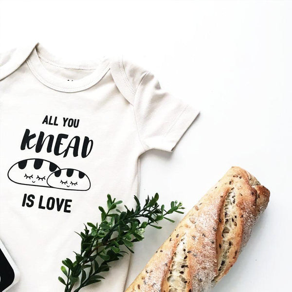 All you knead is love organic baby romper