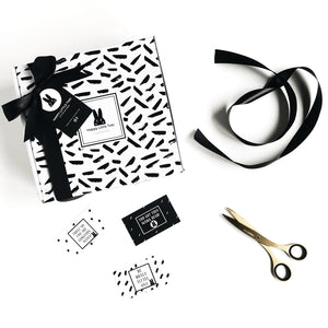 Toki baby gift box with gift tag and inspo cards
