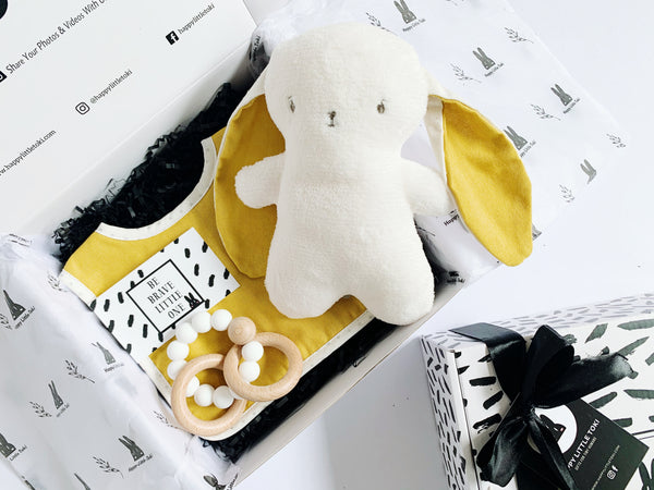 Mustard Baby Gift (Bunny Hat included)