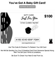 E-Gift Card With Personalised Messages