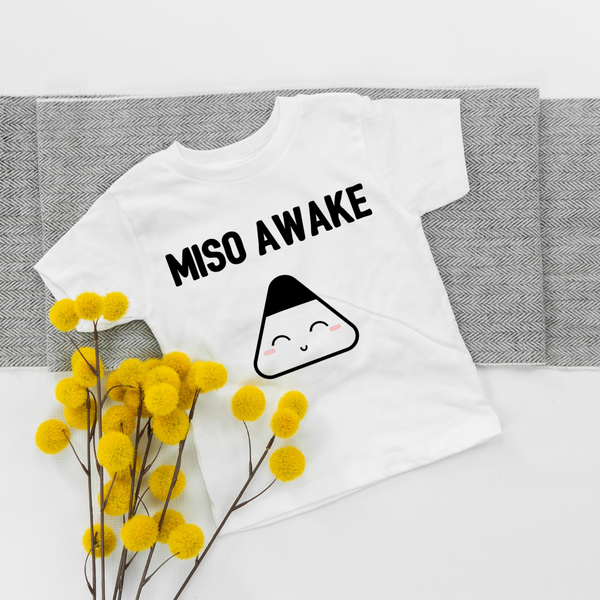 Miso awake baby organic t-shirt with flowers