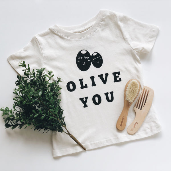 Olive you baby organic t-shirt